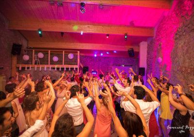 Eclairage de salle de Mariage en projecteurs LED DJ Kriss Château de Ventavon