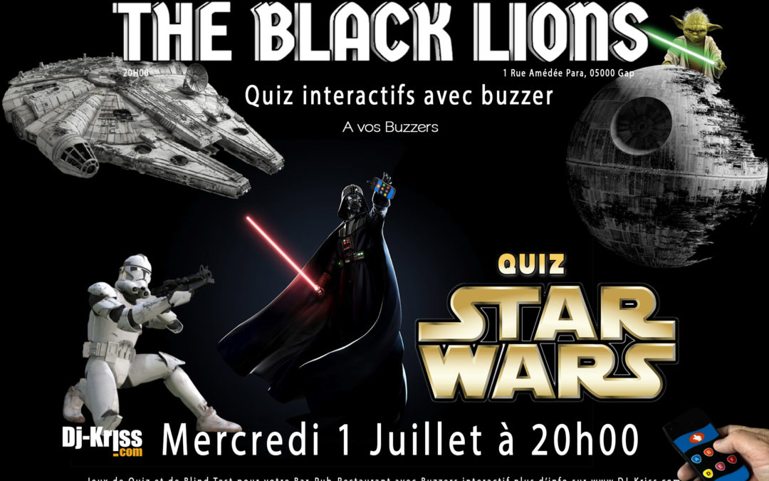 Quiz Star Wars Interactif avec buzzer Gap