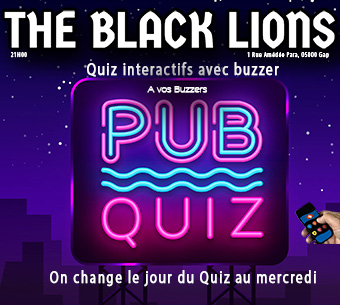 Info Gap : Reprise du Quiz le 10 Juin Au Pub The Black Lions