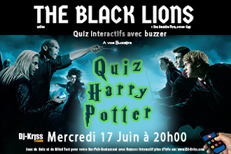 Quiz Harry Potter Pub The Black Lions Gap